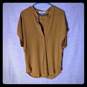 Lumiere - NWT - mustard blouse